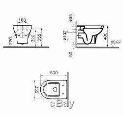 Grohe Rapid Sl Wc Frame + Vitra Zentrum Wall Hung Toilet Pan & Soft Close Seat