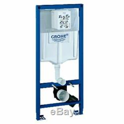 Grohe Rapid Sl Wc Frame +grohe Essence Wall Hung Toilet Pan&soft Close Seat 6in1
