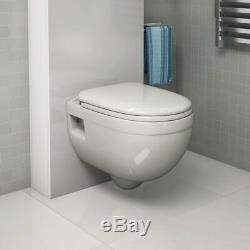 Grohe Rapid Wc Toilet Frame + Pura Bathrooms Ivo Wall Hung Toilet Pan With Seat