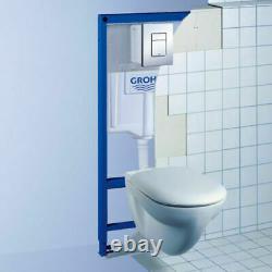 Grohe Sl Wc Frame+ Rak Ceramics Rimless Wall Hung Toilet Pan Soft Close Seat