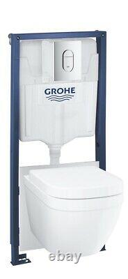 Grohe Solido Euro 5in1 Toilet Set Wall Hung Toilet with Frame (39536000)
