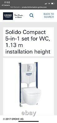 Grohe Wall Hung Toilet Set
