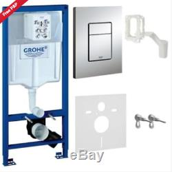 Grohe Wc Frame & Duravit Durastyle Rimless Wall Hung Wc Toilet + Soft Close Seat