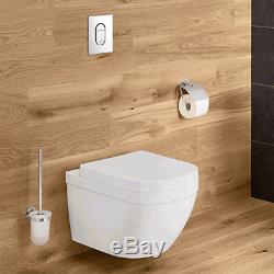 Grohe Wc Frame & Grohe Euro Ceramic Rimless Wall Hung Toilet Pan Soft Close Seat