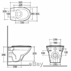 Grohe Wc Frame+ Rak Ceramics Morning Wall Hung Toilet Pan Soft Slim Close Seat