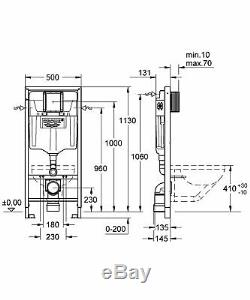 Grohe rapid 5in1 frame, wall hung toilet cistern skate plate, Fresh System