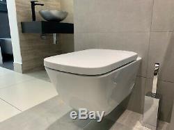 Gsi Sand 55 Rimless Swirl Flush Wall Hung Wc Toilet & Soft Close Seat Ex-display