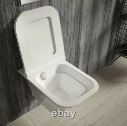 Hudson Reed Grace Floating Wall Hung Toilet Pan & Soft Close Seat Modern Rimless