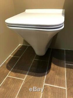 Hudson Reed Grace Wall Hung Rimless Toilet & Soft Close Seat (1 Left)
