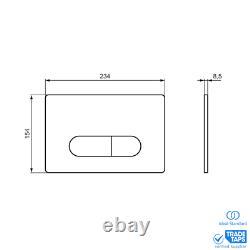 IDEAL STANDARD Wall Hung Toilet Concealed Cistern Frame Unit & Black Flush Plate