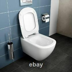 Ideal Standard Concealed Toilet Cistern Wc Frame + Tesi Aquablade Toilet Pan Set