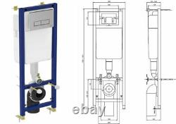 Ideal Standard Concealed Wc Wall Hung Toilet Frame 350mm Width With Flush Plate