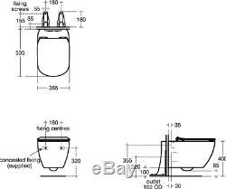 Ideal Standard Tesi AquaBlade Wall Hung WC + Soft Close Seat