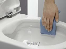LAUFEN PRO COMPACTO RIMLESS WALL HUNG TOILET PAN WITH SOFT CLOSE SEAT 2in1