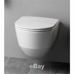 LAUFEN PRO COMPACTO RIMLESS WALL HUNG TOILET PAN WITH SOFT CLOSE SEAT 2in1 SET