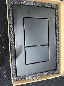 Lusso Stone Slimline Wall Hung Frame & Cistern With Matt Black Flush Plate