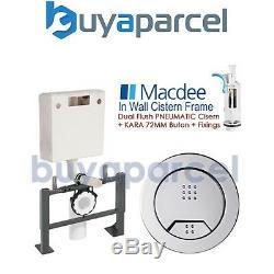 Macdee Toilet Frame + Dual Flush Pneumatic Cistern
