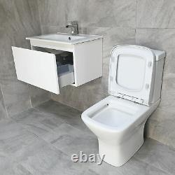 Mino 500 or 600mm Wall Hung Vanity Unit + Optional Rimless Toilet + Optional Tap