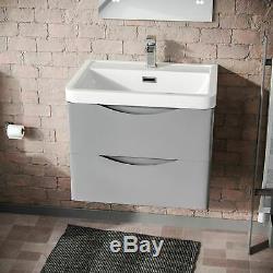 Modern Light Grey Basin Vanity Wall Hung Rimless Close Coupled Toilet Merton