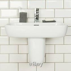 Modern Wall Hung Toilet & Basin Cloakroom Suite