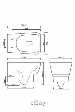 Modern Wall Hung Toilet & Basin Cloakroom Suite Toilet Frame Cistern Dual Flush
