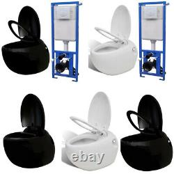Modern Wall Hung Toilet Frame With Concealed Cistern Bathroom WC Pan Egg Design