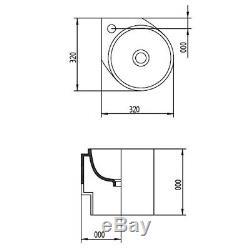 Modern bathroom cloakroom 320mm vanity wash basin sink wallhung corner CELINA