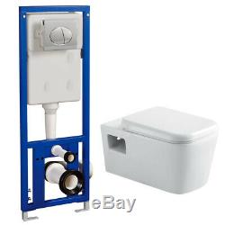 Monza Wall Hung Toilet with Concealed Cistern + Frame (VICTORIA PLUMBING)
