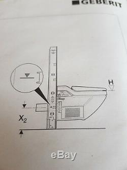 NEW Geberit Monolith/cist. Tank Toilet Mechanism Aluminium Suspended Umbra Glass