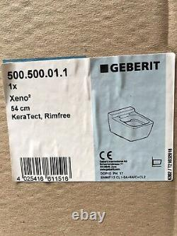New Geberit Xeno2 Wall Hung Pan & Seat- Rimfree 500.500.01.1 & 537.500.01