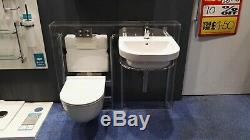 New luxury white bathroom wall hung toilet and sink