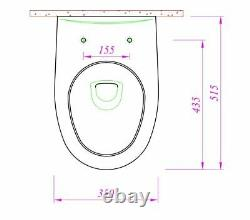 Optimum Universal Rimless Wall Hung Combined Bidet Toilet With Soft Close Seat