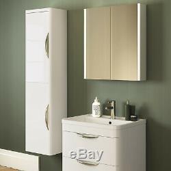 Parade Gloss White Bathroom Furniture Vanity Cabinet Basin, WC Toilet Unit