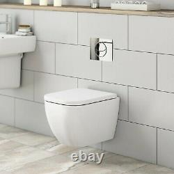 Quality MODE Wall hung toilet, frame & cistern with soft close toilet seat