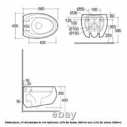 RAK Cloud Rimless Wall Hung Toilet with Urea Soft Close Seat Matt White