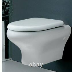 RAK Compact Wall Hung Toilet WC 520mm Projection Soft Close Seat