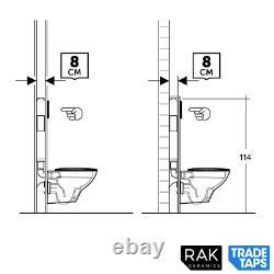 RAK Ecofix 8cm Slim Concealed Wall Hung Toilet WC Cistern Frame Dual Flush Plate