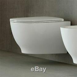 RAK Harmony Luxury Wall Hung Toilet WC Includes Soft Close Seat