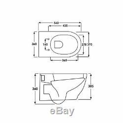 RAK Harmony Wall Hung Toilet WC -Soft Close Seat
