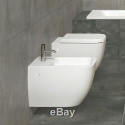 RAK Metropolitan Square Wall Hung Toilet Pan Including Soft Close Seat