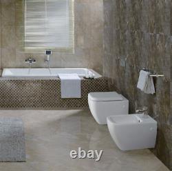 RAK Metropolitan Wall Hung Mount WC Pan Toilet With Soft Close Seat 525mm