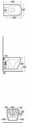 RAK Metropolitan Wall Hung Pan with Soft Close Seat (Urea)