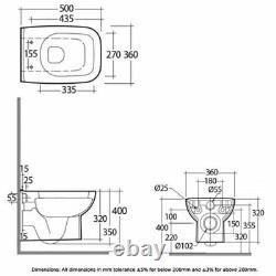 RAK Origin 62 Wall Hung Toilet 500mm Projection Urea Soft Close Seat