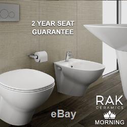 RAK RIMLESS Flush Close Coupled Toilet Bidet Sink Inset Basin Pedestal Wall Hung