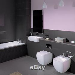 RAK RIMLESS Metropolitan Wall Hung Toilet WC & New Slimline Soft Close Seat