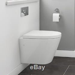 RAK Resort Wall Hung Toilet WC Pan Rimless Hygiene Including Soft Close Seat
