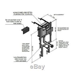 RAK Rimless Wall Hung Toilet Pan Soft Close Adjustable Dual Flush Cistern Frame