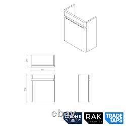 RAK Rimless Wall Hung Toilet Vanity Unit Basin Sink GROHE Dual Flush Cistern Set