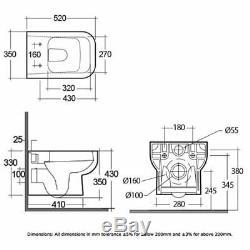 RAK Series 600 Rimless Wall Hung Toilet with Hidden Fixations Slim Sandwich Ur