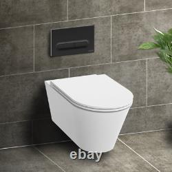 RAK Wall Hung RIMLESS Toilet & VITRA Low Height Concealed Cistern Frame Plate